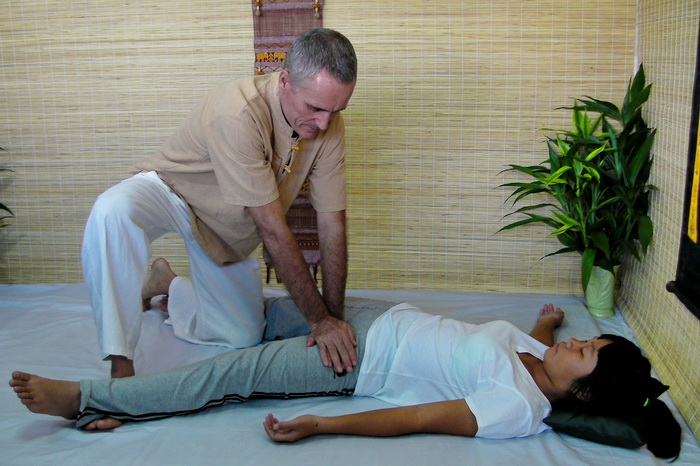 thai massage adductor stretch