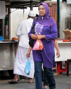 Muslim woman in Penang, Malaysia