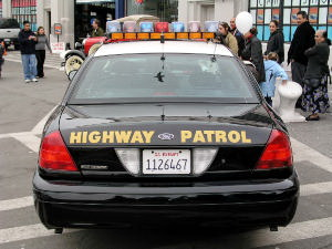 highway patrol car